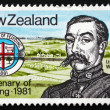 Stock Photo: Postage stamp New Zealand 1981 Henry A. Feilding