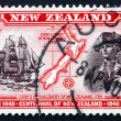 Postage stamp New Zealand 1940 Captain Cook, Map of New Zealand — Stock Photo #34169303