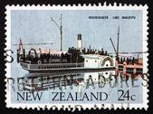 Postage stamp New Zealand 1984 Ferry Mountaineer, Lake Wakatipu, — Stock Photo