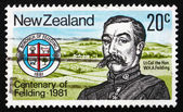 Postage stamp New Zealand 1981 Henry A. Feilding — Stock Photo