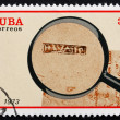Stock Photo: Postage stamp Cub1973 Postmark from Havana, 1760