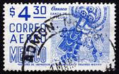 Postage stamp Mexico 1975 Oaxaca, Danza de la Pluma — Stock Photo