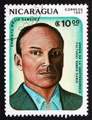 Postage stamp Nicaragua 1987 Ernesto Mejia Sanchez, Poet — Stock Photo
