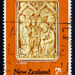 Postage stamp New Zealand 1976 Nativity, Carved Ivory, Spain — Foto Stock