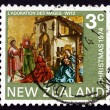 Postage stamp New Zealand 1974 Adoration of the Kings, by Conrad — Stock Photo