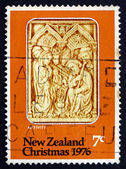 Postage stamp New Zealand 1976 Nativity, Carved Ivory, Spain — Stock Photo
