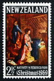 Postage stamp New Zealand 1969 Nativity, by Federico Fiori — Stock Photo