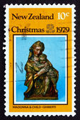 Postage stamp New Zealand 1979 Virgin and Child, by Lorenzo Ghib — Stock Photo