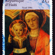 Постер, плакат: Postage stamp Haiti 1996 The Virgin and Infant by Jacopo Bellin