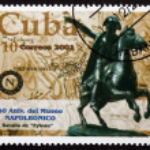 Постер, плакат: Postage stamp Cuba 2001 Equestrian Statue of Napoleon
