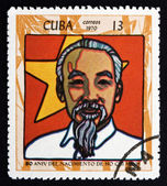 Postage stamp Cuba 1970 Ho Chi Minh, President — Stock Photo