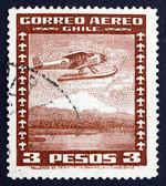 Postage stamp Chile 1935 Seaplane — Stock Photo