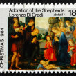 Postage stamp New Zealand 1984 Adoration of the Shepherds, by Lo — Stock Photo