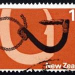 Postage stamp New Zealand 1971 Maori Fishhook, Tool — Stock Photo #34271055
