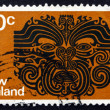 Postage stamp New Zealand 1971 Maori Tattoo Pattern — Stock Photo