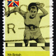 Stock Photo: Postage stamp New Zealand 1974 Hurdles, 10th Commonwealth Games,