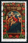 Postage stamp New Zealand 1982 Madonna with Child, by Piero di C — Stock Photo