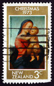 Postage stamp New Zealand 1973 Tempi Madonna, by Raphael — Stock Photo