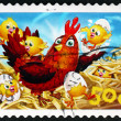 Stock Photo: Postage stamp Australi2005 Hen and Chicks