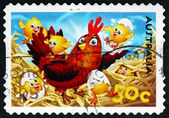 Postage stamp Australia 2005 Hen and Chicks — Stock Photo