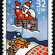 Postage stamp USA 1996 Dreaming of Santa Claus, Christmas — Stock Photo