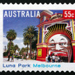 Postage stamp Australia 2008 Luna Park Melbourne — Stock Photo #34330991