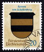 Postage stamp Liechtenstein 1965 Arms of Lords of Schellenberg — Stock Photo