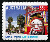 Postage stamp Australia 2008 Luna Park Melbourne — Stock Photo