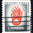 Stock Photo: Postage stamp Canad1956 House on Fire