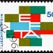 Postage stamp Liechtenstein 1967 EFTA Emblem — Stock Photo