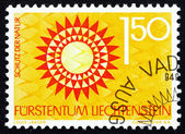 Postage stamp Liechtenstein 1966 Soil Conservation, Tree, Nature — Stock Photo