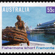 Postage stamp Australia 2008 Fishermans Wharf, Fremantle — Stock Photo