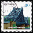 Postage stamp Germany 2000 Blue Wonder Bridge, Dresden — Stock Photo