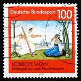 Postage stamp Germany 1991 Sorbian Legends — Stock Photo