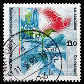 Postage stamp Germany 1999 Expo 2000, Hannover — Stock Photo