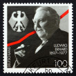 ������, ������: Postage stamp Germany 1997 Ludwig Erhard German Politician