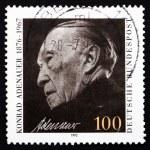 Постер, плакат: Postage stamp Germany 1992 Konrad Adenauer Chancellor
