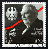 Postage stamp Germany 1997 Ludwig Erhard, German Politician — Foto de Stock