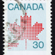 Stock Photo: Postage stamp Canad1981 Maple Leaf, CanadiSymbol