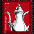Postage stamp USA 2007 Silver Coffeepot — Stock Photo