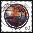 Postage stamp Germany 1997 Nuremberg Globe of Martin Behaim — Stock Photo