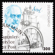 Stock Photo: Postage stamp Germany 1997 Rudolf Diesel and his Engine
