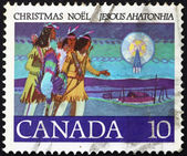 Postage stamp Canada 1977 Hunters Following Star, Christmas — Stock Photo