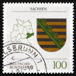 Stock Photo: Postage stamp Germany 1994 Coat of Arms, Saxony