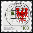 Postage stamp Germany 1992 Coat of Arms, Brandenburg — Stock Photo