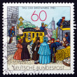 Postage stamp Germany 1981 People by Mail Coach, Lithograph — Stock Photo #34653647