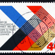 Postage stamp Germany 1973 Colors of France and Germany Interlac — Stock Photo