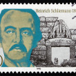 Stock Photo: Postage stamp Germany 1990 Heinrich Schliemann, Archaeologist