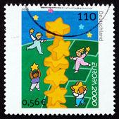 Postage stamp Germany 2000 Children and Stars — Stock Photo