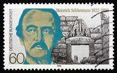 Postage stamp Germany 1990 Heinrich Schliemann, Archaeologist — Stok fotoğraf